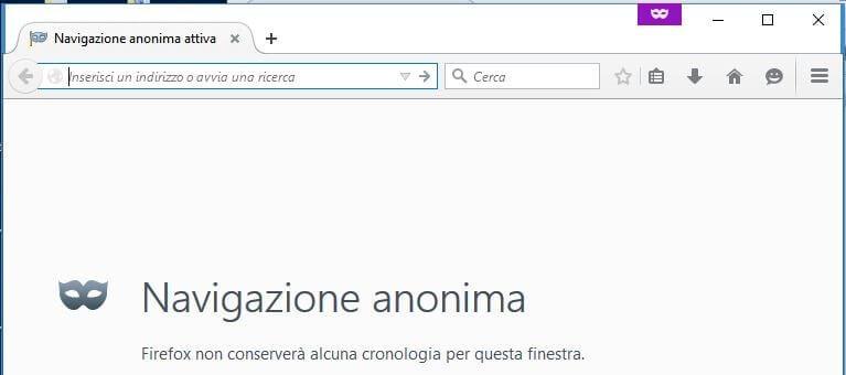 Navigazione anonima con Firefox