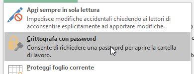 Crittografa con password