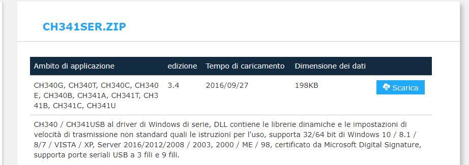 Programmare Arduino Nano ATmega328P CH340G con Arduino IDE in Windows download