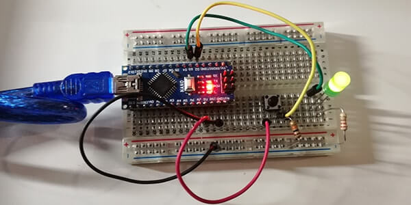 Accendere un LED tramite pulsante con Arduino