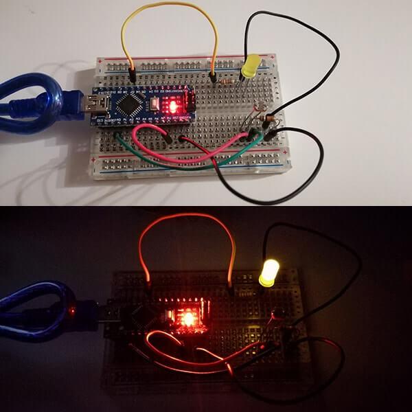 Interruttore crepuscolare con Arduino Nano e Fotoresistenza acceso spento