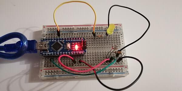 Interruttore crepuscolare con Arduino Nano e Fotoresistenza