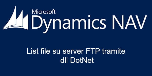 Lista file su server FTP in Dynamics Nav tramite dll DotNet