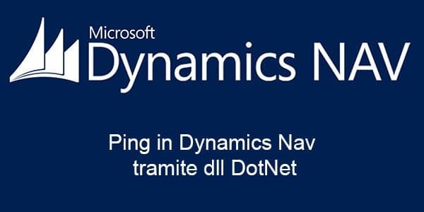 Eseguire il Ping in Dynamics Nav tramite dll DotNet