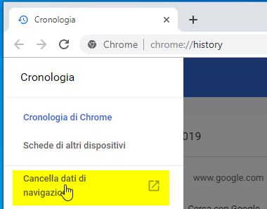 Correggere ERR_TOO_MANY_REDIRECTS in Google Chrome pulsante cancella dati