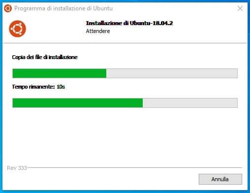 Come installare Linux Ubuntu da Windows.Installazione