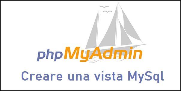 Creare una Vista MySql in phpMyAdmin