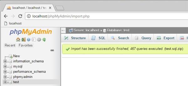 phpMyAdmin - Error Incorrect format parameter import