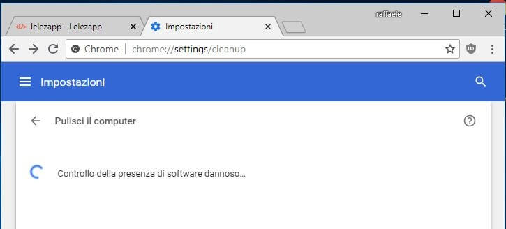 Come rimuovere Malware da Windows con Google Chrome controllo in corso
