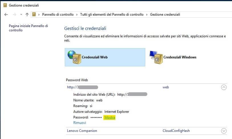 password Microsoft Edge mostra