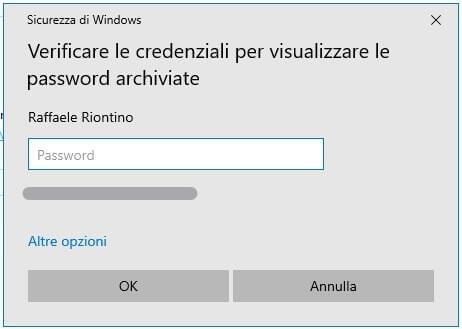 password Microsoft Edge richiesta credenziali