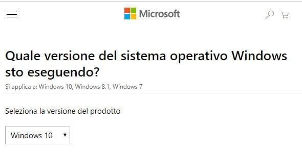 Scoprire edizione versione e build di Windows installata supporto microsoft