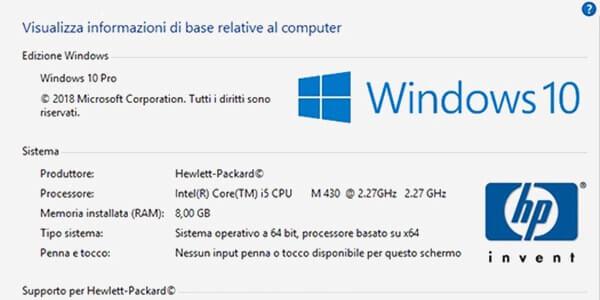 Scoprire edizione versione e build di Windows installata